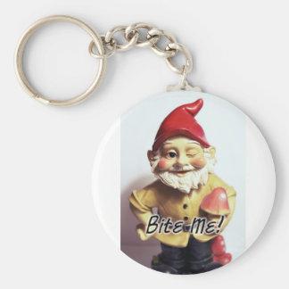Bite Me Gnome Basic Round Button Keychain