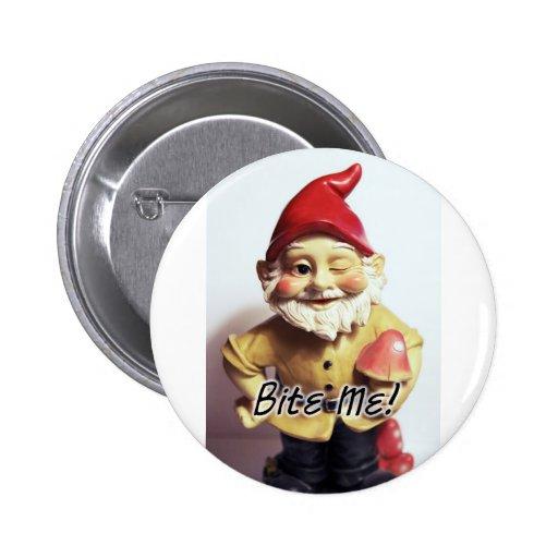 Bite Me Gnome Button