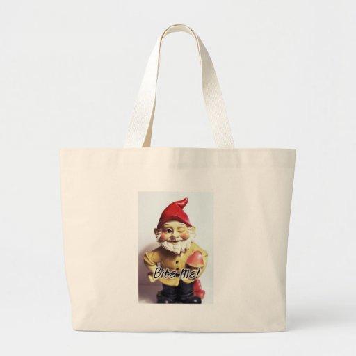 Bite Me Gnome Jumbo Tote Bag