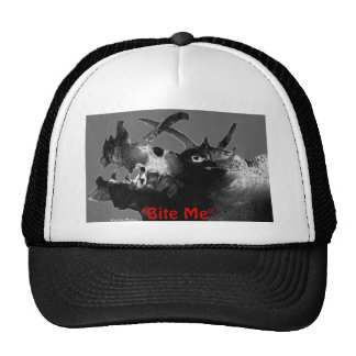 """Bite Me"" hat by Zoltan Buday"