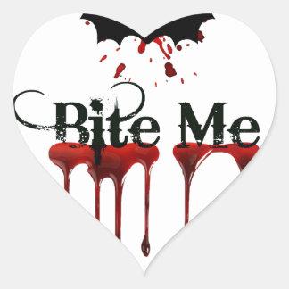 Bite Me Heart Sticker