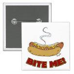 Bite Me - Hot Dog 2 Inch Square Button