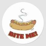 Bite Me - Hot Dog Classic Round Sticker