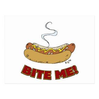 Bite Me - Hot Dog Postcard
