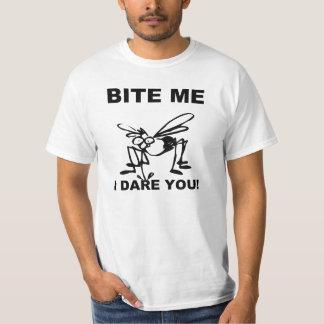 Bite Me I Dare You Funny Mosquito T Shirt