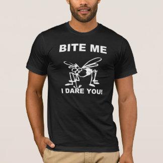 Bite Me I Dare You Funny Mosquito T-Shirt
