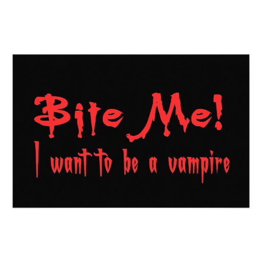 Bite Me I Want To Be A Vampire Custom Stationery