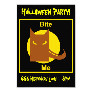 Bite Me 3.5x5 Paper Invitation Card
