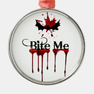 Bite Me Metal Ornament