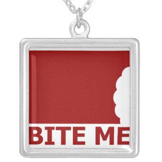 Bite Me Square Pendant Necklace