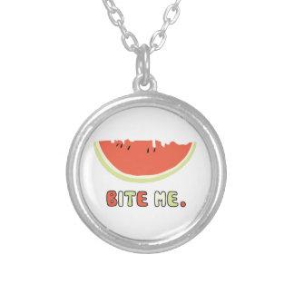 Bite Me Round Pendant Necklace