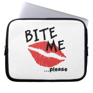 Bite Me Please Laptop Computer Sleeves