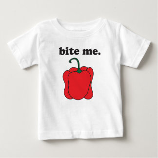 bite me. (red bell pepper) baby T-Shirt