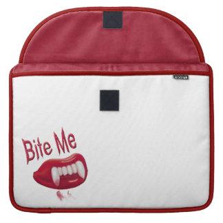 Bite Me - Red Blood Vampire Fangs Lips & Teeth MacBook Pro Sleeves