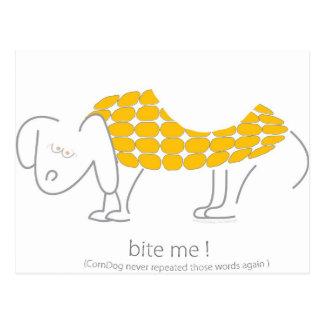 Bite Me! said CornDog Postcard