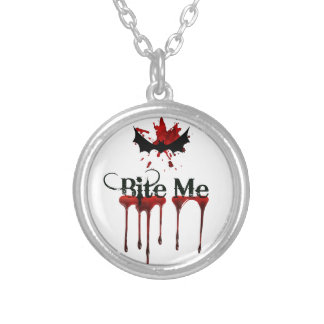 Bite Me Silver Plated Necklace