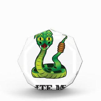 bite me snake acrylic award