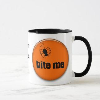 Bite me, spider halloween goodies mug