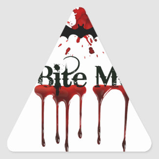 Bite Me Triangle Sticker