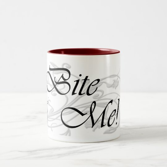 Bite Me! Two-Tone Coffee Mug