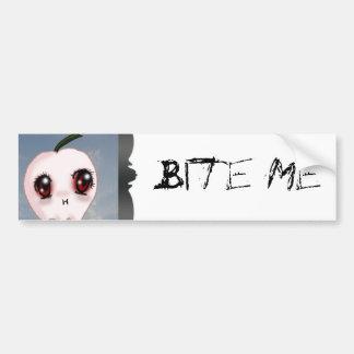 Bite Me Vampire Apple Bumber Sticker