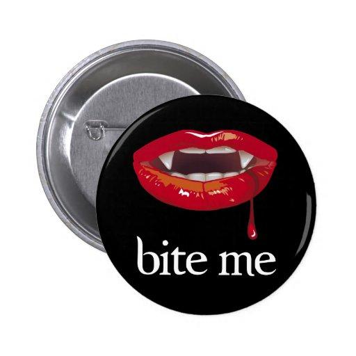 Bite Me Vampire button