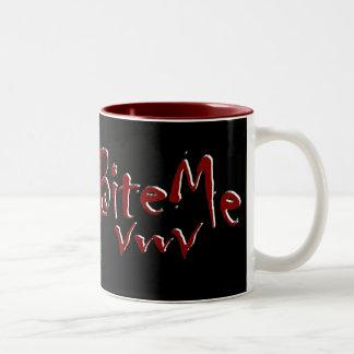 Bite Me Vampire Fangs Graphic Mugs