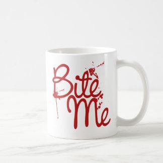 Bite me Vampire for Halloween Humor Coffee Mug