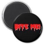 Bite Me Vampire Halloween 2 Inch Round Magnet