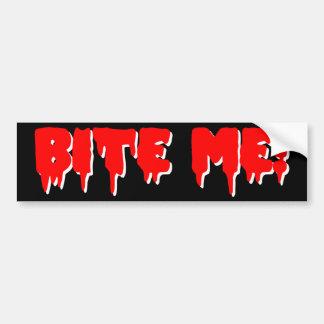 Bite Me Vampire Halloween Car Bumper Sticker