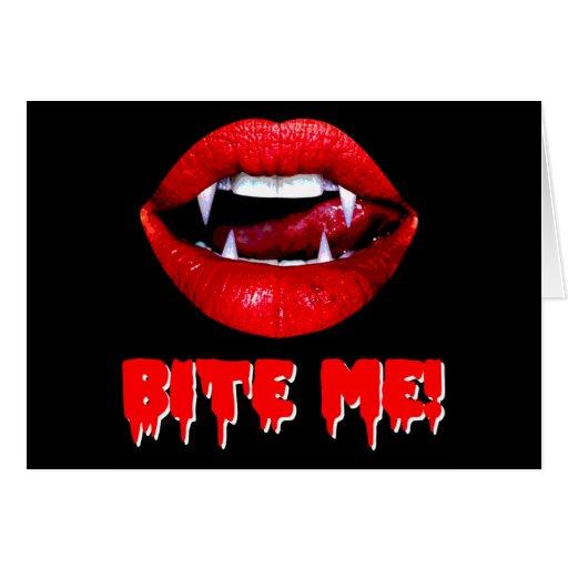 Bite Me Vampire Halloween Card
