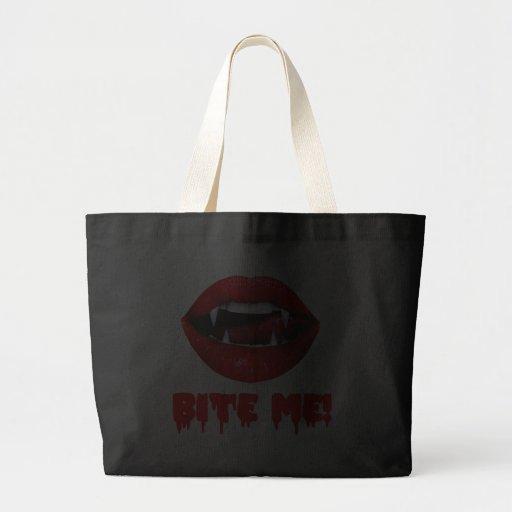 Bite Me Vampire Halloween Large Tote Bag