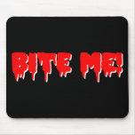 Bite Me Vampire Halloween Mouse Pad