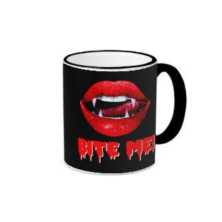 Bite Me Vampire Halloween Mugs