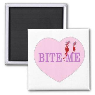 Bite Me Vampire Heart 2 Inch Square Magnet