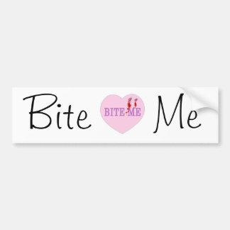 Bite Me Vampire Heart Bumper Sticker