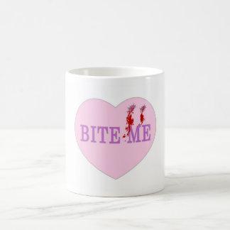 Bite Me Vampire Heart Coffee Mug