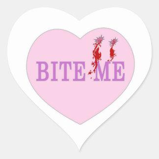Bite Me Vampire Heart Stickers