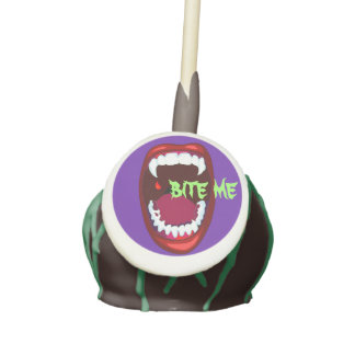 Bite Me Vampire Teeth Fangs Horror Show Art Cake Pops