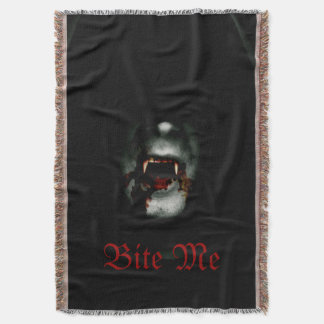 Bite Me Vampire Throw Blanket