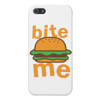bite me ! with cute Hamburger Case For iPhone SE/5/5s