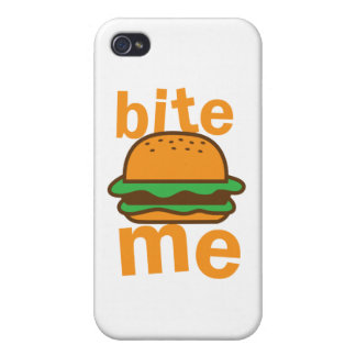 bite me ! with cute Hamburger iPhone 4/4S Covers