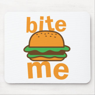 bite me ! with cute Hamburger Mouse Pad