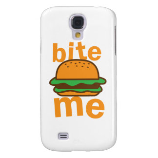 bite me ! with cute Hamburger Samsung Galaxy S4 Cover