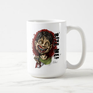 Bite Me Zombie Boy and Turtle Classic White Coffee Mug