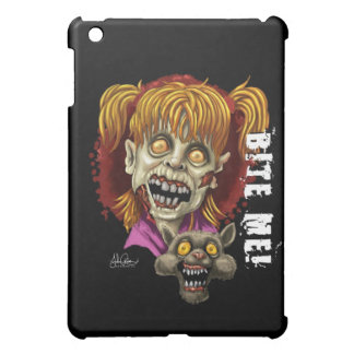 bite Me Zombie Girl and Cat Case For The iPad Mini