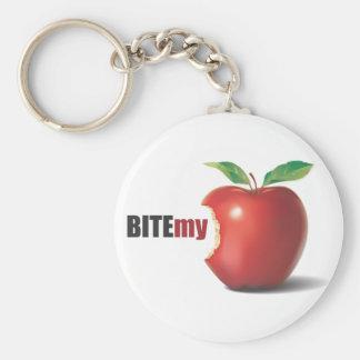 Bite my apple keychain