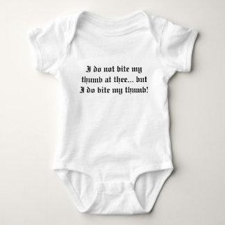 Bite my thumb baby bodysuit