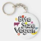 Bite Size Vegan Keychain New Logo