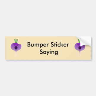 Bite The Angry Turnip Bumper Sticker
